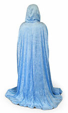 Sky BLUE Velvet Cloak Cape Wedding Wicca Medieval LARP