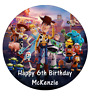 "Toy Story 4 Personalised Birthday Cake Topper Edible 7.5"" Wafer Cake Decoration"