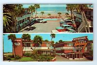 Vintage Postcard Catalina Beach Motel Daytona Beach Florida FL Multiview Pool