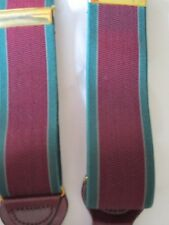 Trafalgar Green and Purple Striped Silk Braces Suspenders