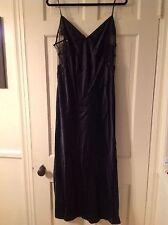 Victoria's Secret Long Black Gown Lingerie L Bridal NWT NEW