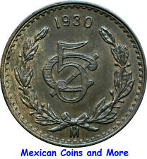 "Mexico 5 Centavos Mo 1930 Oval ""0"", UNC."