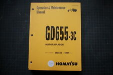 KOMATSU GD655-3C Motor Grader Operation/Operator Maintenance Shop Manual guide