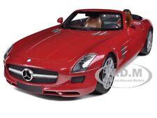 2011 MERCEDES SLS AMG ROADSTER RED 1/18 DIECAST CAR MODEL MINICHAMPS 100039030