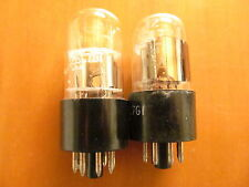 MATCHED PAIR OF 12SL7GT GENERAL ELECTRIC CLEAR TOP
