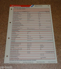 Inspektionsblatt Honda Spacy CH 125 Baujahr 1996
