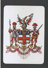 Playing Swap Cards 1  VINT WIDE  MILITARY  REGIMENTAL   CLUBS  ARMORIAL  R24