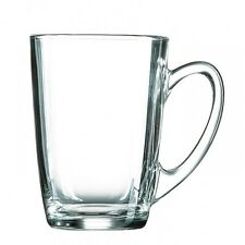 Set of Six Luminarc Large Clear Glass Tea Coffee Chai Cappuccino Cups Mugs 320ml