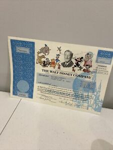 1993 THE WALT DISNEY COMPANY Stock Certificate 1 Share