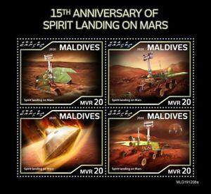 Maldives Space Stamps 2020 MNH Spirit Landing on Mars 4v M/S