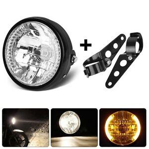 "7"" Motorcycle LED Headlight Turn Signal Light Indicator w/Brackets Mount Offroad"