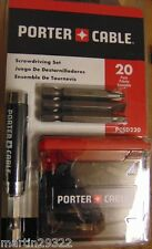Porter Cable 20 Pc Phillips/Slotted/Square Screwdriver Fastener Kit PCSD220