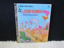 Vintage 1974 The Road Runner A Very Scary Lesson Little Golden Hardback Book