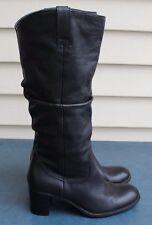 Liz Claiborne Musket Flex Comfort Black Leather Knee High Boots Musket Sz 6.5M