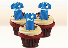SHEFFIELD Owls Colours Stand-up Cake Toppers. Novelty Fun Party Edible Wafer