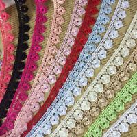 5 Yards Gestickte Blume Spitzenborte 1,5 Cm Band DIY Hochzeitskleid Nähen Dekor