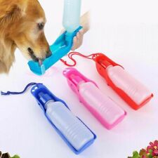 Dog Foldable Water Bottle Drinking Dispenser 250ml Pet Bowls Dish Outdoor Travel