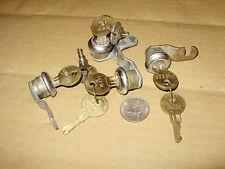 """(4) Vintage Hudson 7/16"""" Cam Locks Keyed Alike"""