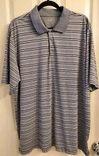 Mens bcg Golf Polo Short Sleeve Shirt Gray Stripes Size X-Large