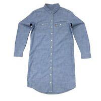 Levi's Women's Cotton Denim Style Dress In Blue Size S