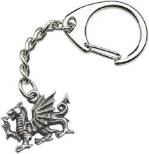 Medievil heraldic dragon Handcrafted from Solid Pewter In UK Key Ring (WA)