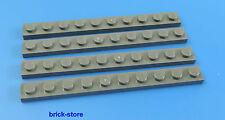 LEGO 1x10 Plaque gris foncé / 4 Pièces