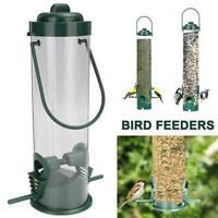 Durable Hanging Wild Bird Feeder Seed Container Hanger Feeding Outdoor Gard Z4K5