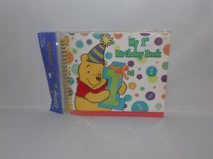 NEW RARE Disney Hallmark Winnie the POOH My 1st BIRTHDAY Book Memory Keepsake