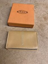 Tods Leather Business Card Holder Case Wallet