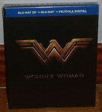 WONDER WOMAN DIGIBOOK BLU-RAY 3D+BLU-RAY+LIBRO NUEVO PRECINTADO (SIN ABRIR) R2