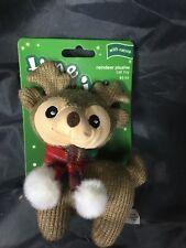 Time For Joy Reindeer Plushie Cat Toy W/Catnip