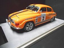 SAAB 96 V4 Rallye RAC GB WM 1974 #2 Blomqvist Castrol 2nd Bosch Tecnomodel 1:18
