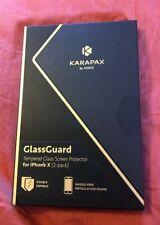 NIB - Karapax by Anker iPhone X GlassGuard - 2 pack