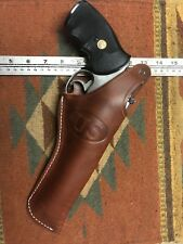 """Fits Smith & Wesson 686 586 66 19 6"""" Thumb Break Tanned Leather Holster w/ US"""