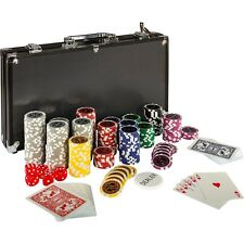 Pokerkoffer Pokerset Poker BLACK EDITION 300 Set Laser Chips Alu Koffer Jetons