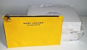 Wholesale / Job Lot 6 x Marc Jacobs Daisy Yellow Cosmetics / Make Up Bag Boxed