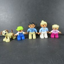 Duplo  - Lot of 5 Figure - Dad, Mom, Daughter, Son & Puppy  (Duplo Family)