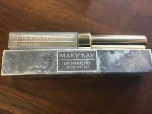 Mary Kay LIP SPARKLERS SILVER Lip Gloss Strawberry Scent Rare! .25 fl oz BNIB