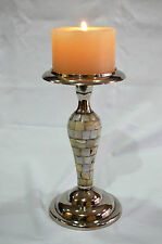 "8"" Mother of Pearl Votive Tealight Candle Holders Centerpieces Candelabra Gift."
