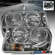 2005 2006 2007 2008 2009 Chrysler 300 Chrome Headlights Replacement Lamps Pair
