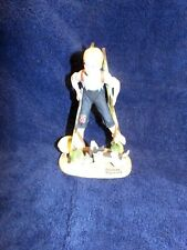"Norman Rockwell Porcelain Figurine, The Danbury Mint, ""Boy On Stilts"" 1980"