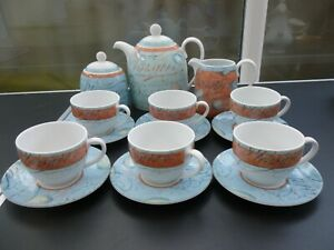 Wedgwood Variations Tea Set - 15 Pieces inc Tea Pot