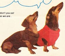 DACHSHUND COAT - S,M & Large   - COPY dog knitting pattern