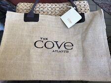 NEW -THE COVE AT THE ATLANTIS BURLAP BAHAMAS TOTE BEACH BAG