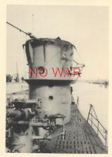 WWII ORIGINAL GERMAN PHOTO KRIEGSMARINE U-BOAT TOWER w EMBLEM