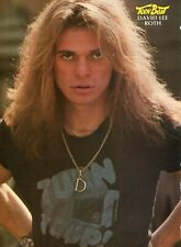 New listing David Lee Roth Pinup Clipping Cutting From A Magazine 80'S Young Van Halen