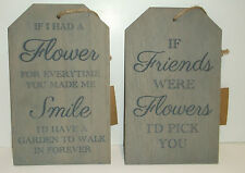 Unbranded Flowers Decorative Wall Plaques