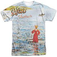 Official Genesis Foxtrot Album Record Cover Phil Collin Peter Gabriel T-shirt