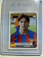 Lionel Messi Barselona panini Champions of Europe 1995-2005 Rookie Sticker MINT