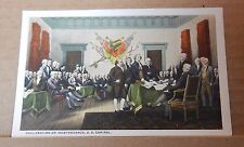 Postcard America Declaration of Independence U.s capitol Washington   Unposted